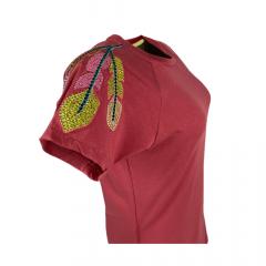 Camiseta Feminina Miss Country Bravura Rosa Ref.: 0698
