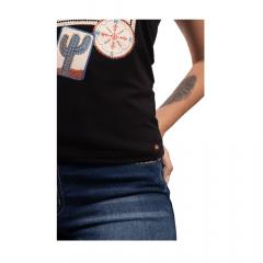 Camiseta Feminina Miss Country Wild Preto Ref.: 0696
