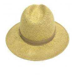 Chapéu Feminino Panamá Pralana Algas Amarelo