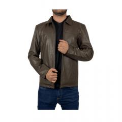 Jaqueta de Couro Masculina Badana Marrom Kaban Ref:125