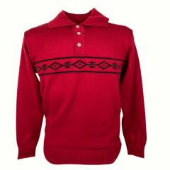 Blusa Suéter Masculina Pátria Pampa Vermelho