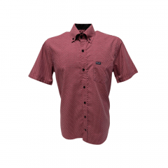 Camisa Wrangler Tricoline Masculina Rosa Xadrez -Ref: WM9917