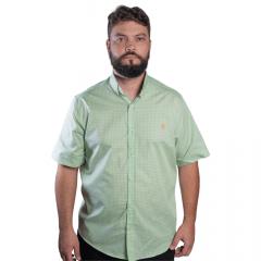 Camisa Masc country TXC Verde Xadrez Manga Curta - Ref.: 2526