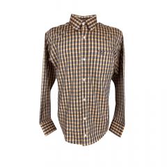 Camisa Masculina Xadrez Classic Laranja
