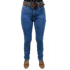 Calça Jeans Feminina Carpinteira Nocona Jeans Azul