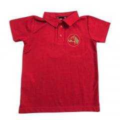 Camiseta Polo Infantil Cavalo Crioulo Colbeck Vermelha