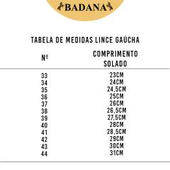 Bota Gaúcha Campeira Lince Havana Solado De Couro
