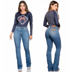 Body Country Feminino Buphallos Azul REF BPL39