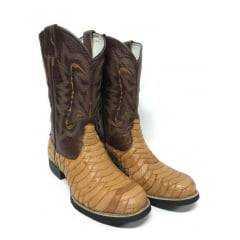 Bota Goyazes Texana Country Masculina Couro De Avestruz