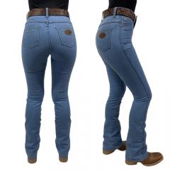 Calça Jeans Feminina Flare Badana 04 - Steel Blue - Alabama