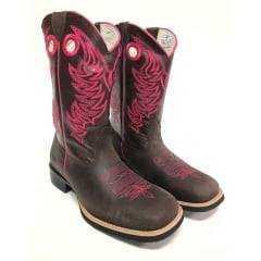 Bota Texana Feminina Red Dust Fossil Marrom Pink