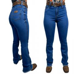 Calça Jeans Feminina Badana Azul Sk1 Flare Ref:6006