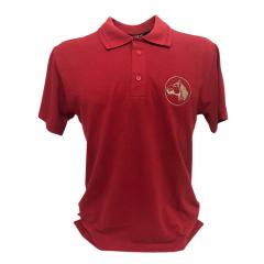 Camiseta Pólo Masculina Colbeck Cavalo Crioulo Vermelho