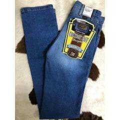 Calça Jeans Country Feminina Estern Wrangler Tradicional Reta Azul Clara