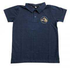 Camiseta Polo Infantil Cavalo Crioulo Colbeck Azul