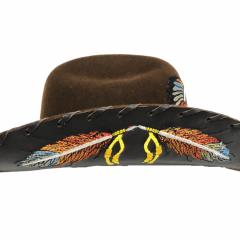Chapéu Eldorado Company American Horse Lã Marrom