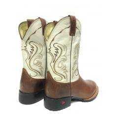 Bota Texana Country Masculina Goyazes Bico Redondo Gelo Tan