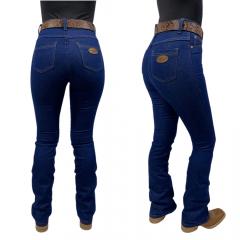 Calça Jeans Feminina Flare Badana 03 Midnight Blue - Alabama