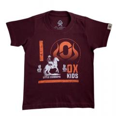 Camiseta Infantil Unissex Ox Horns Bordô - REF: 5093