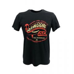 Camiseta Masculina All Terrain Preta com Laranja