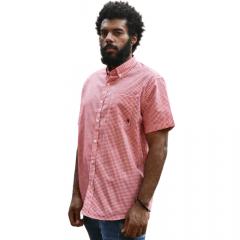Camisa Masc country TXC Vermelho Xadrez Manga Curta Ref.: 2593C