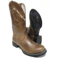 Bota Goyazes Texana Country Masculina Rústica 100% Couro
