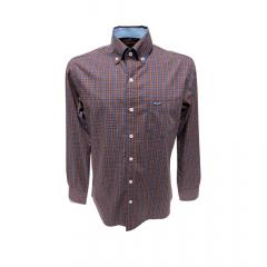 Camisa Wrangler Tricoline Masculina Xadrez - Ref: WM9961