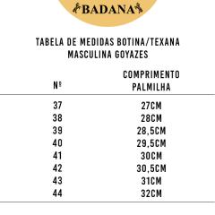 Botina Masculina Goyazes Bico Quadrado Pit Stop Havana