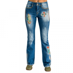 Calça Feminina Miss Country Amazônita Cor - Jeans Ref: 0658