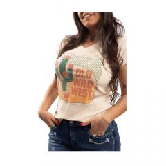 Camiseta Feminina Miss Country Old West Bege Ref.: 0716