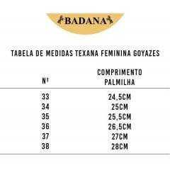 Bota Texana Goyazes Feminina Mustang Tabaco