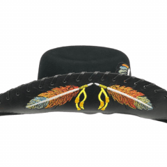 Chapéu Eldorado Company American Horse Lã Preto