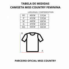 Camiseta Feminina Miss Country Rodeo Branca Ref.: 0725
