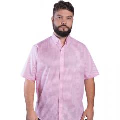 Camisa Masc country TXC Rosa Xadrez Manga Curta - Ref.: 2516C