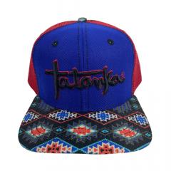 Boné Country Unissex Tatanka Azul/Vermelho