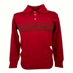 Blusa Suéter Masculino Pátria Pampa Vermelho e verde
