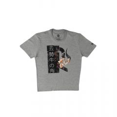 Camiseta Masculina Ox Horns Cinza Floral REF 1447