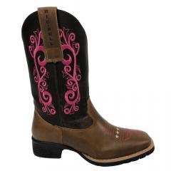 Bota Texana Feminina Big Bull Boots Areia Fóssil Rosa