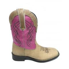 Bota Texana Country Feminina Cano Médio Estilo Goyazes