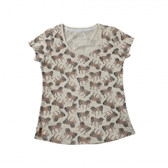 Camiseta Feminina Estanciero Bege REF 4213A047