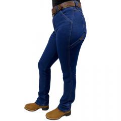 Calça Carpinteira Feminina For Texas Azul Escuro
