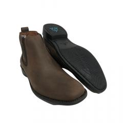Sapato Botina Masculina Sollu Couro Oleo Brown