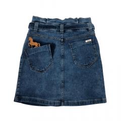 Saia Country Jeans Maragata Cloch Ard Marchador Azul