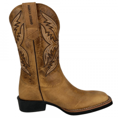 Bota Texana Masculina Texas Rodeo Crazy Mostarda Ref.: TR 433