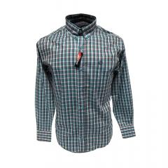 Camisa Masculina Classic Xadrez Azul  Ref: 2001