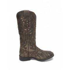 Bota Texana Feminina Vimar Dallas Castor Ref. 13089