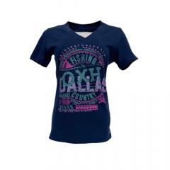 Camiseta Feminina Ox Horns TShirt Slim Azul Ref: 6166