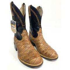 Bota Texana Country Masculina Durango Escamada Cano Preto