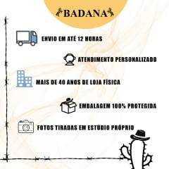 Botina Batistão Preta Lisa Bico Redondo- Ref.017