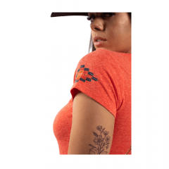 Camiseta Feminina Miss Country Laranja Apache Ref.: 0711